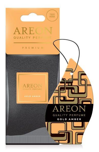 Gold Amber DP04 – Areon Premium Best Car Air Freshener (pack of 12)