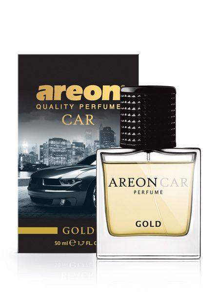 Gold MCP04 – Areon Car Perfume Air Freshener Spray Glass Bottle 50ml