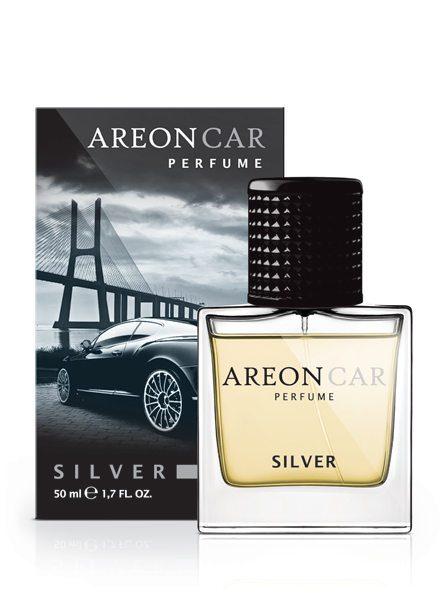 Silver MCP05 – Areon Car Perfume Air Freshener Spray Glass Bottle 50ml