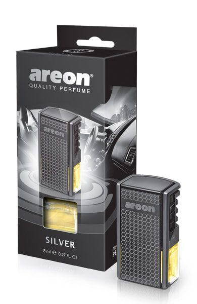 Silver AC02 – Areon Car (pack of 12)