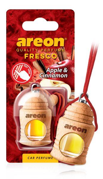 Apple & Cinnamon FRTN21 Areon Fresco Car Air Freshener (pack of 12)