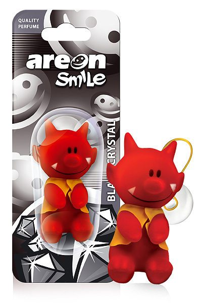 Black Crystal ASB03 – AREON Smile Toy Funny Car Air freshener (pack of 12)