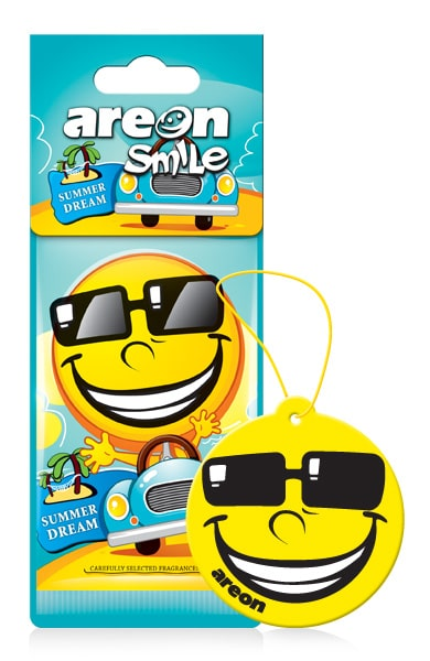 Summer Dream ASD23 – AREON Smile Funny Car Air freshener (pack of 12)