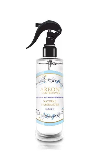 Areon ASN01 Perfume Air Freshener Spray for Home and Office, Made with All Natural Essential Oils, Pine and Lemon (pack of 12)