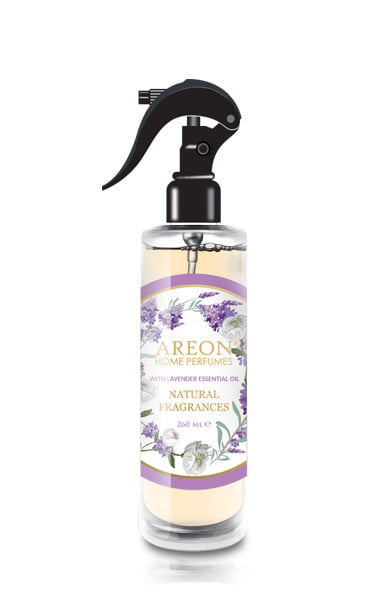 Areon ASN03 Perfume Air Freshener Spray for Home and Office, Made with All Natural Essential Oils, Lavender (pack of 12)