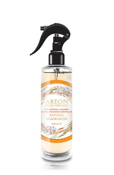 Areon ASN04 Perfume Air Freshener Spray for Home and Office, Made with All Natural Essential Oils – Patchouli, Lavender, Tea tree and Orange (pack of 12)